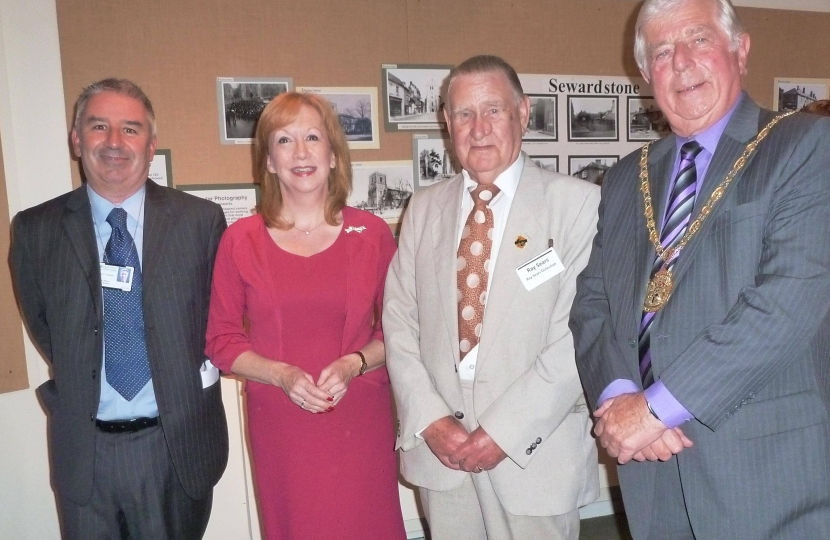 Eleanor Laing MP at Epping Forest District Museum with staff and Chairman