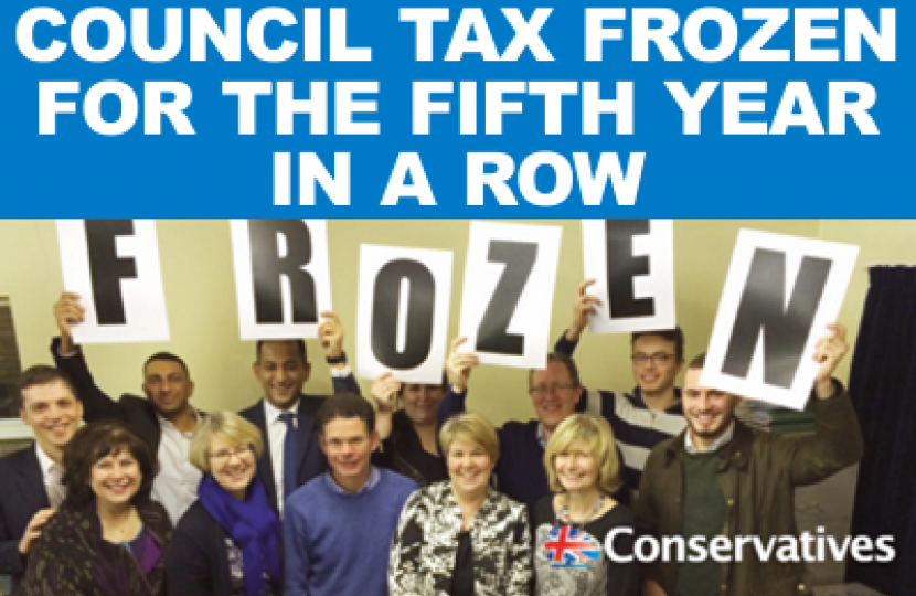 Council Tax Frozen for the Fifth Year