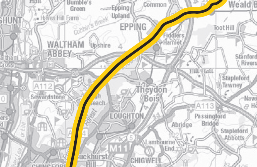 Map of Le Tour in Epping Forest